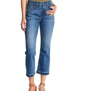 Free people Stone Blue High Release Boot cut Jeans